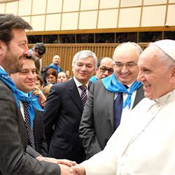 A udienza da Papa Francesco per celebrare i 100 anni di Confcooperative