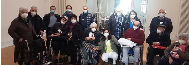 Arrigo Sacchi incontra gli anziani ospiti del Giovannardi-Vecchi di Fusignano